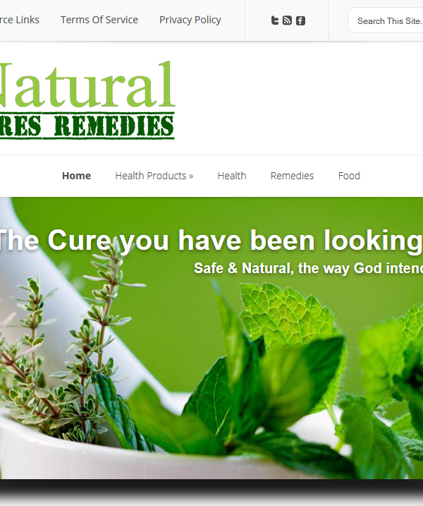 natural cures remedies web design cape coral